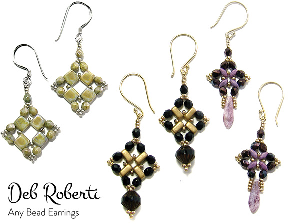 I Call This Pattern The Any Bead Earrings Because You Can Use 4mm Beads Round Druks Gl Pearls Or Gemstones Bicone Crystals