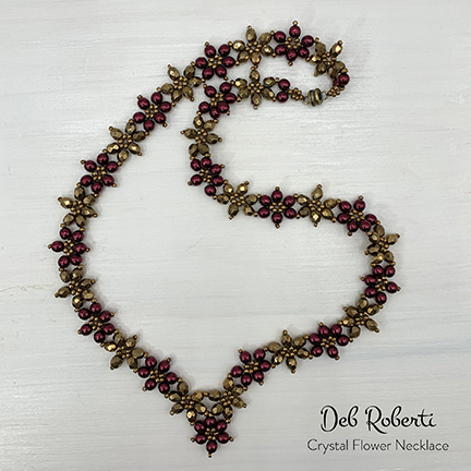 Crystal Flower Necklace, design by Deb Roberti