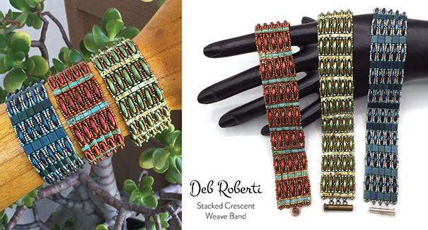 Stacked Crescent Weave Band
