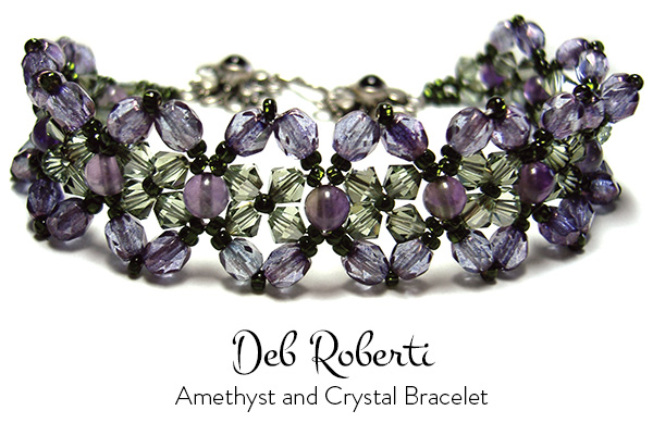free Amethyst and Crystal Bracelet pattern