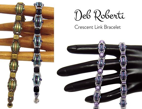 Crescent Link Bracelet, free Crescent bead pattern