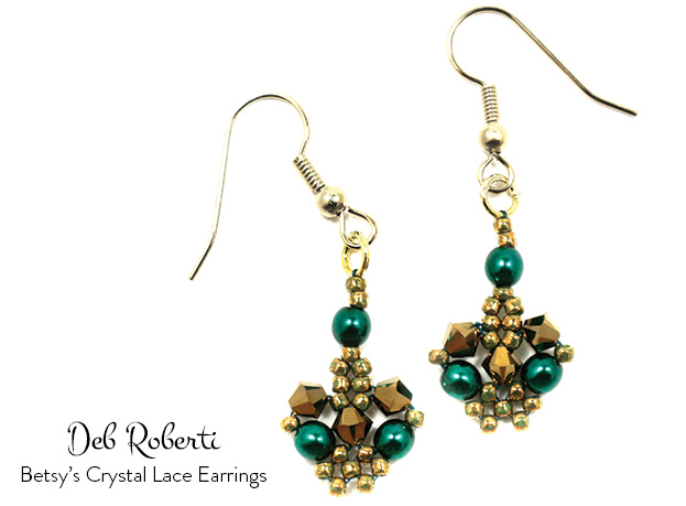 Betsy's Crystal Lace Earrings