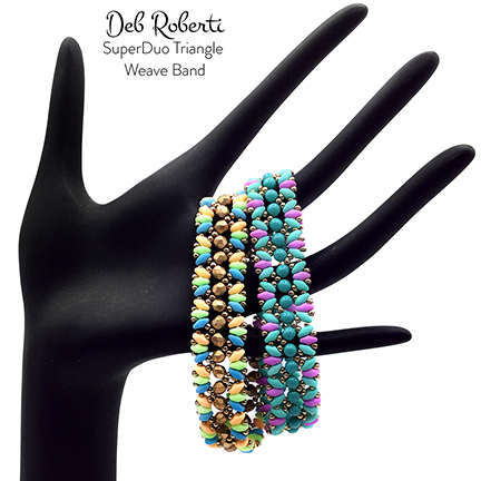SuperDuo Triangle Weave Band, free SuperDuo pattern