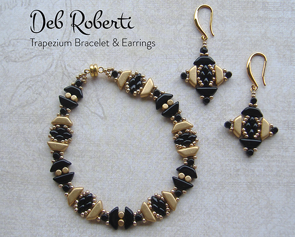 Trapezium Bracelet & Earrings